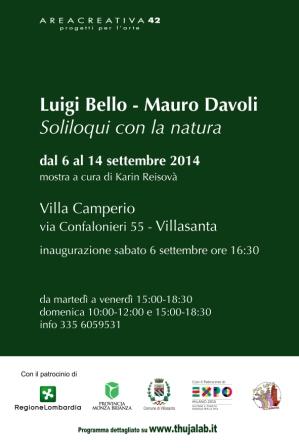 VILLASANTA (MB): Luigi Bello e Mauro Davoli - Soliloqui con la natura