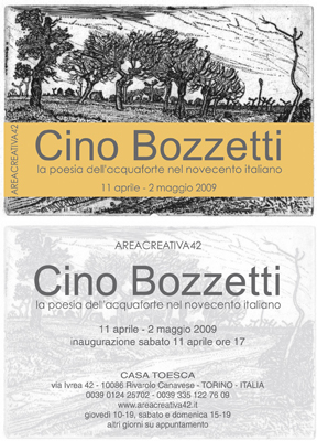 CINO BOZZETTI - The poetry of etching in the Italian XX Century