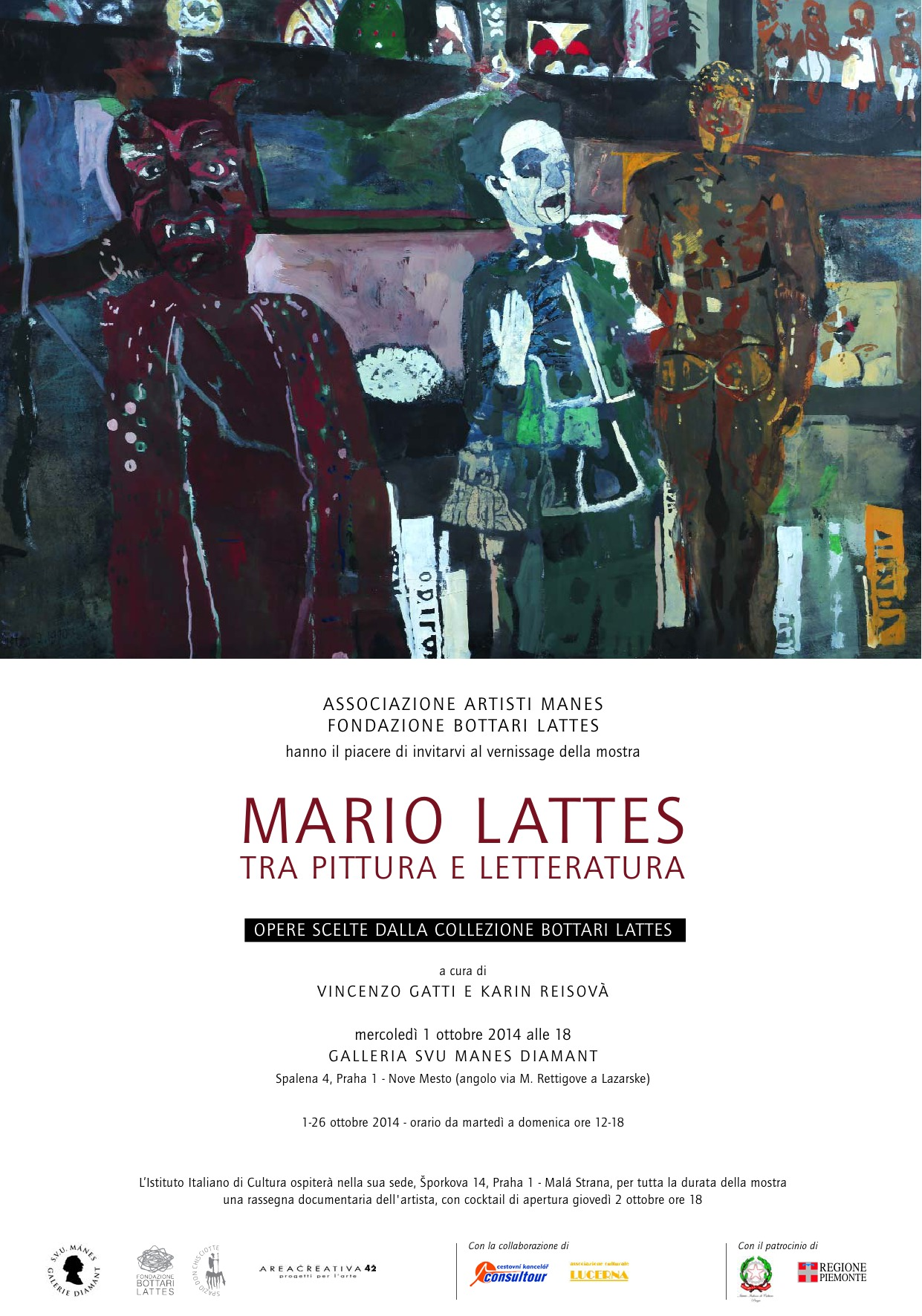 Prague: Mario Lattes, between painting and literature